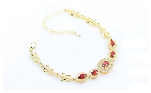 AJ Designer Italian design luxury Zircon bracelet for women (Red)