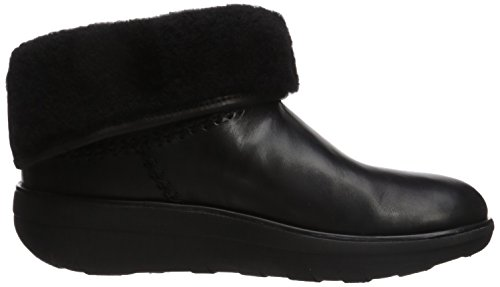 Fitflop Boots para Botines Shorty Black Leather Mukluk Mujer Black 2 4OnBrq4xT
