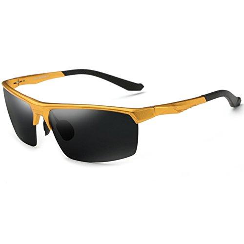 frame lunettes conduite conducteur de Gold hommes Frame Couleur Gold aviation miroir Lunettes soleil Lunettes de conduite polarisées soleil de zaYqH