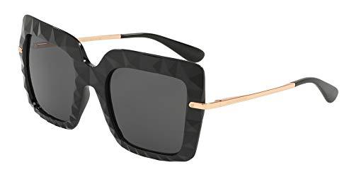 (Dolce & Gabbana Women's DG6111 Black/Pink Gold/Grey Gradient One Size)