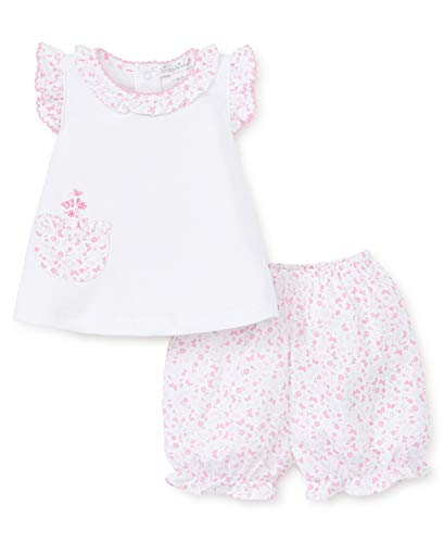 - Kissy Kissy Baby-Girls Infant Mini Blooms Pink Sunsuit-White with Pink-9 Months