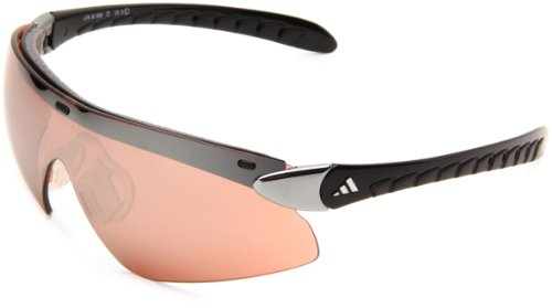 adidas supernova pro L a176-6050 Shield Sunglasses,Chrome & Black Frame/LST Active Silver Lens,One Size