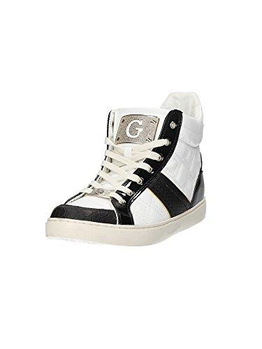 Sportives Blanc Guess ou nbsp;col Cassé Fabric Rose Sneaker mod Rady blanc femme fl1radele12 Chaussures Blanc hautes qwx7wT5R