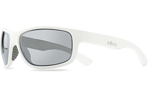 Revo Baseliner RE 1006 09 GY Polarized Wrap Sunglasses, White/Graphite, 61 - Harness Revo