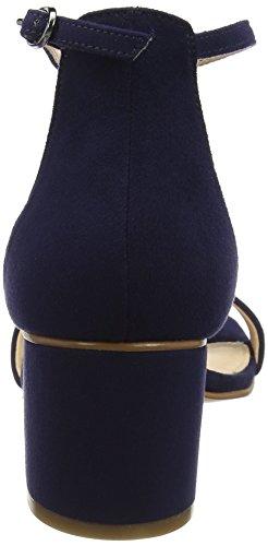 Unbekannt Damen Miner Peeptoe Pumps blau (marineblau)