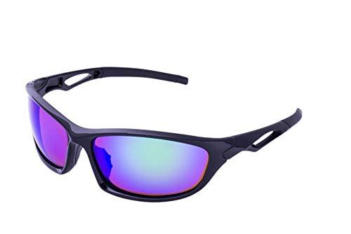 Clear Lake Leman Polarized Sport Sunglasses for Men & Women Wraparound Frame Green Mirror Lenses for Fishing ()