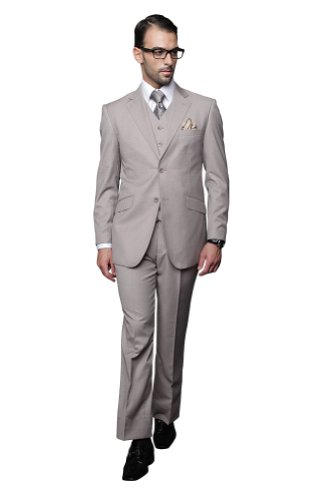 3 PC MEN'S SUIT - Super 150's Mens Italian Suits