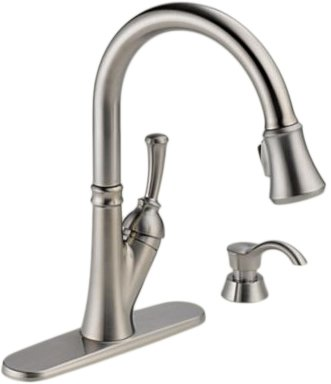 Delta 19949 Sssd Dst Savile Single Handle Pull Down Kitchen Faucet