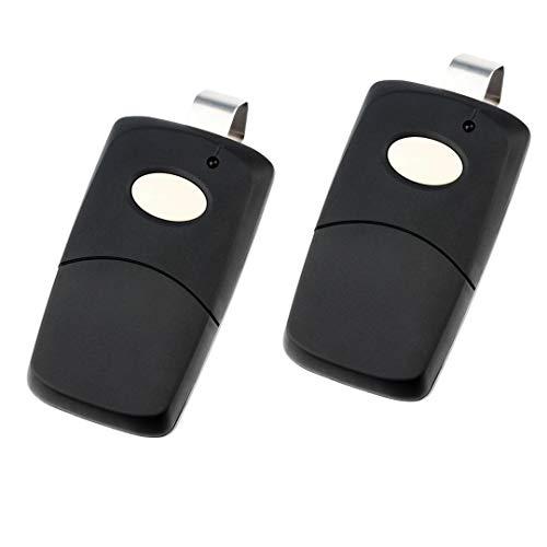 3089 Garage Multicode Door - 2 for Multicode Linear 3089 Garage Door Remote Opener (308911, MCS308911 300mhz) Black