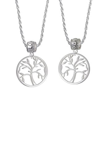 Delight Jewelry Tree of Life in Circle I Love You More Bead Necklace Set of 2