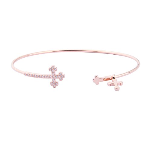 ommunion Gift Cross Bracelet Baptism Jewelry for Goddaughter (RG first communion cross bracelet) ()