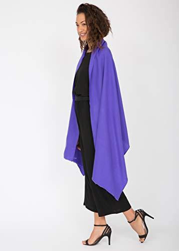 amp; Merino 75 Violet nbsp;cm nbsp;x Kasa Pashmina Intrecciato In Lana Oversize 200 Sciarpa 8tTnwUYqxA