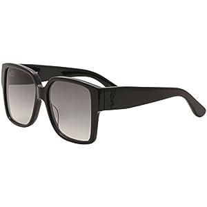 Yves Saint Laurent SL M9 002 55mm Black / Grey Sunglasses