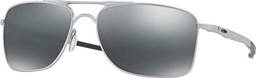 Oakley Men's Gauge 8 Non-Polarized Iridium Rectangular Sunglasses, Matte Lead, 57.02 - Wire Polarized Oakley