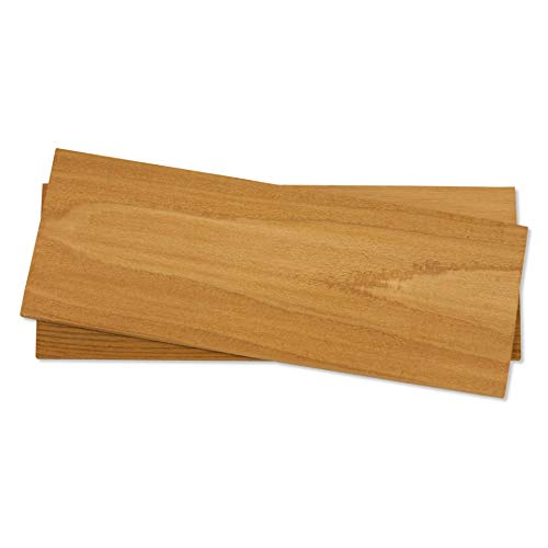 Fire & Flavor Natural Red Cedar Medium Grilling Planks, 5.5 x 11, Bulk Size 24 Count