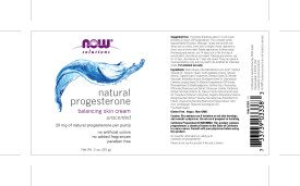 NOW Progesterone Cream, 3-Ounces (2 bottles)