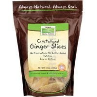 Ginger Slices (Crystallized), 12 oz (Pack of 2) by Now Foods
