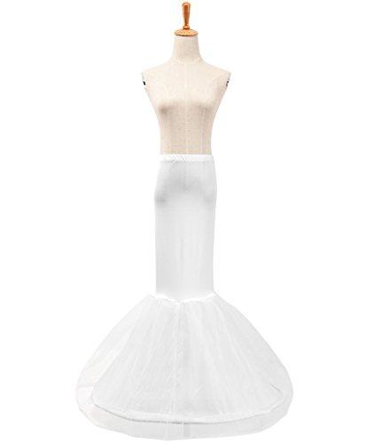 MLQM Women Hoopless 4 Layers Petticoat Crinoline Underskirt Slips for Wedding Party