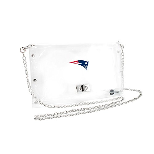 Bag Handbag Bowler (NFL New England Patriots Clear Envelope Purse)