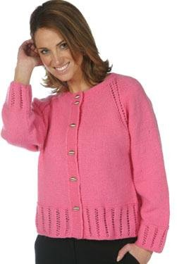 - Plymouth (1-Pack) P503 Galway Worsted Yarn Pattern Leaflet Cardigan-1P