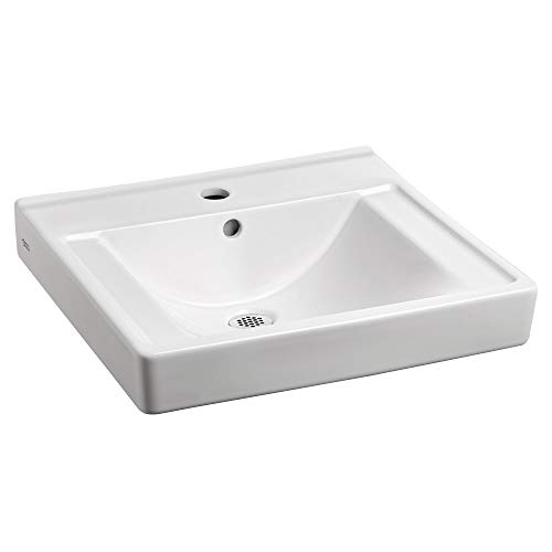American Standard 9024001EC.020 Decorum Ceramic Wall Mounted Rectangular Bathroom sink, 20.06