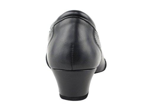 Zapatos Muy Finos Para Hombre, Latino Y Ritmo Competitivo Serie Cd9319 1.5 Talón (9.5, Cuero Negro)