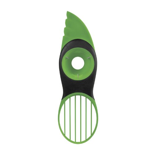 Avocado Slicer, 3 In 1 Avocado Slicer, Avocado Pitter, Premium Quality Silicone with Stainless Steel Cutter