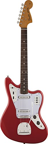 Fender Classic Player Jaguar Rosewood Fingerboard Fiesta Solid-Body Electric Guitar with Hard Case, Fiesta Red Double Solid Body Electric Guitar