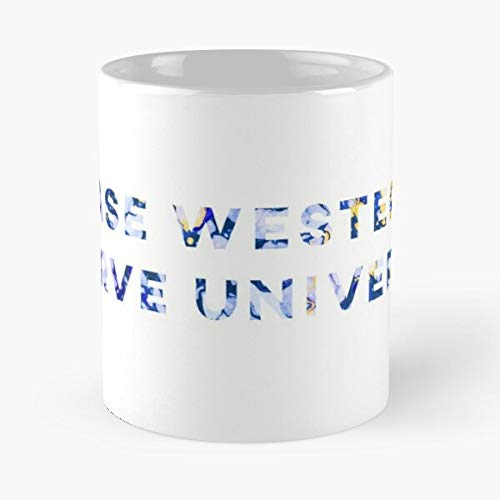Western University Halloween (Marbled Case Western Reserve University Classic Mug - The Funny Coffee Mugs For Halloween, Holiday, Christmas Party Decoration 11 Ounce White)