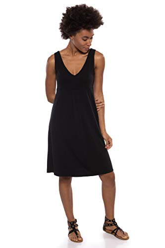 Texere Women's Empire Waist Casual Dress (Hinata, Black, 3X) from Son