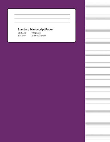 (Standard Manuscript Paper: Purple Cover Blank Sheet Music (Notebook for Musicians))