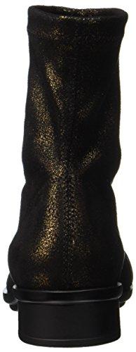 Nr Rapisardi Ladies E702 Stivaletti Neri (black Bronze Star Dust)