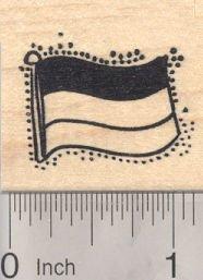 Flag of Germany Rubber Stamp, Bundesflagge und Handelsflagge, German, Horizontal