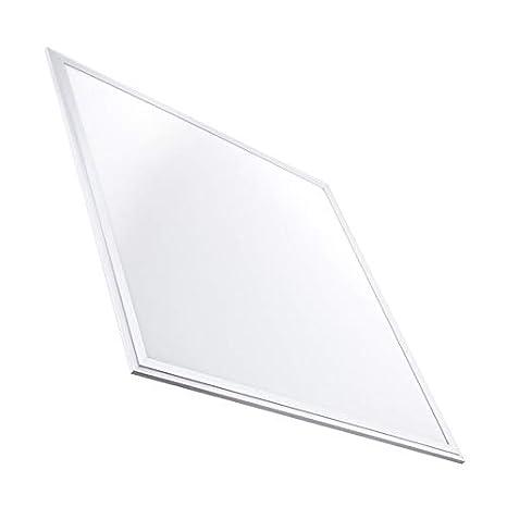 LED-Panel Slim 60x60cm 40W 3200lm Wei?er Rahmen - Kaltes Weiß 6000k-6500K LEDKIA [Energieklasse A] efectoLED