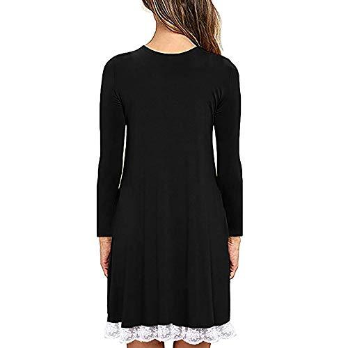 lunga Cerimonia Rawdah cotone Clearance Gonne Peplum con bianco e Tubino da Rosso donn tasche Maglietta Pizzo donna vestito Manica Vestito rSOSnfx70