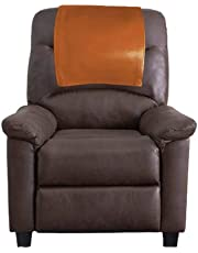 Ganloz Leather Recliner Chair Headrest Cover - Sofa, Love Seat, Furniture Protector, Theater Seat Cover/SlipCover for Home & Office