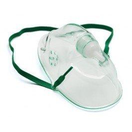 John Bunn Simple Oxygen Mask-Simple Oxygen Mask, Pediatric w/7' Tubing - Green - Case of 50