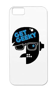 Community Geek Get Robot Geeky Nerd Nerd Geek Lucky 01 TPU Case Cover For Iphone 5c Navy