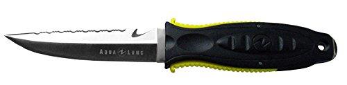 Aqua Lung Big Squeeze SS - Drop Point Dive Knife-Yellow