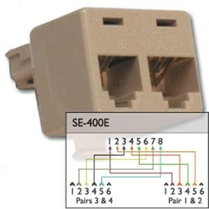 400e Cat5 Splitter - Suttle 400E Cat5 Splitter