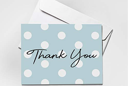 (48 Pack) Thank You Cards Set with Envelopes - Professional Paper with red Yellow Silver Blue Pink Designs and Blank White Inside - Bulk Pack of Notes Perfect for Baby Shower Wedding Birthday Party