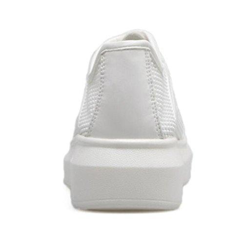 Tête Blanche Ronde Femmes Quotidiens forme Chaussures Plate White Occasionnels Linyi À Épaisse Semelle Sport Étudiants De 8zFqWn