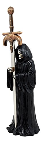 Death Mail Grim Reaper Letter Opener Holding Golden Dagger Sword For Desktop