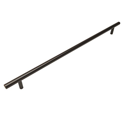 - Cosmas 404-480ORB Oil Rubbed Bronze Solid Steel Construction 3/8 Inch Slim Line Euro Style Cabinet Hardware Bar Pull - 18-7/8