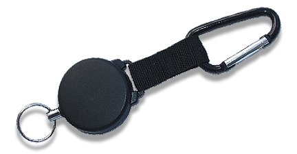 Heavy-Duty Retractable Key Chain Reel 48 Stainless Cable - Great for ID Swipe Cards Model: Office Supply Product Store