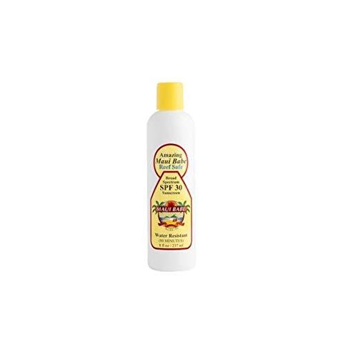 - Maui Babe SPF 30 Sunscreen Lotion 8 Ounces - Water Resistant UVA/UVB Sunblock