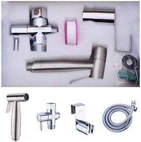 Portable Pet Shower Toilet Water Sprayer Seat Bidet Attachment Bathroom Stainless Steel Spray for Personal Hygiene FINIGE Handheld Bidet Sprayer for Toilet Cloth Diaper Sprayer Two Ways to Mount