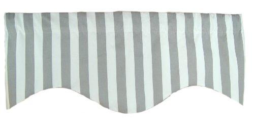 RLF Home Awning Stripe M Shaped Valance, Grey ()