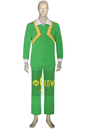 Mtxc Men's The Prince of Tennis Cosplay Costume Yamabuki Middle School Kiyosumi Sengoku Tennis Outfit Size X-Small Green