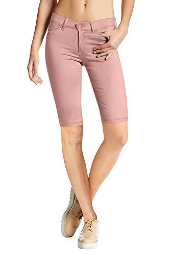 Stretch Capris Summer - HyBrid & Company Womens Super Stretch Comfy Skinny Pants B44876 DustyRose M